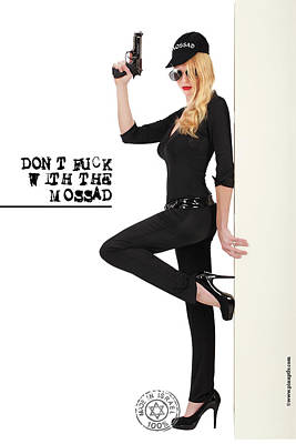 Dont F... With The Mossad Poster by Pin Up  TLV