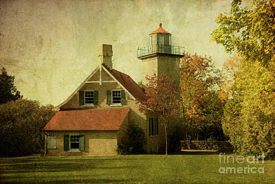 Eagle Bluff Lighthouse Poster by Joel Witmeyer