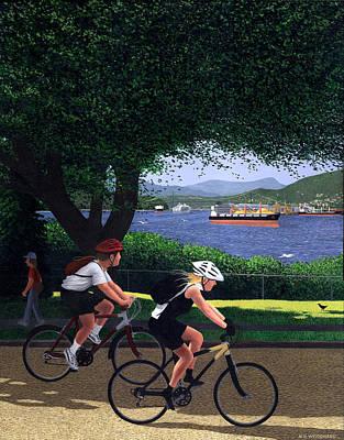 East Van Bike Ride Poster by Neil Woodward
