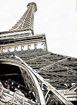 Eiffel Tower Poster by Edward Fielding