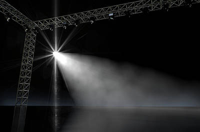 Empty Stage Spotlit Poster by Allan Swart