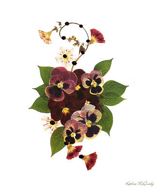 Enchanted Garden Pansies Poster
