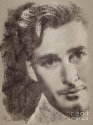 Errol Flynn, Vintage Hollywood Actor Poster
