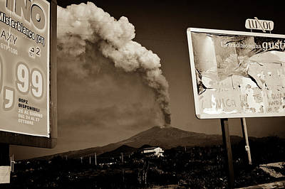 Poster featuring the photograph Etna, The Volcano by Bruno Spagnolo