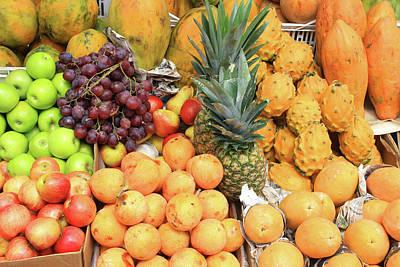 Exotic Fruit Market Poster by Robert Hamm