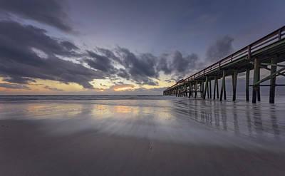 Poster featuring the photograph Fernandina Beach Pier by Peter Lakomy
