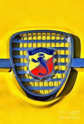 Fiat Abarth Badge Poster by George Atsametakis