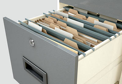 Filing Cabinet Drawer Open Generic Poster by Allan Swart