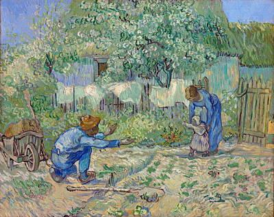 First Steps, After Millet Poster by Vincent van Gogh