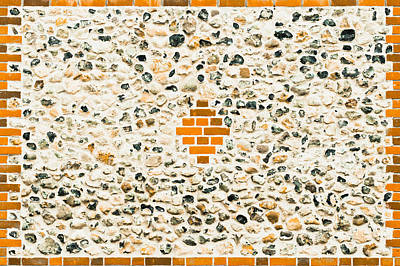 Flint Stone Wall Poster by Tom Gowanlock