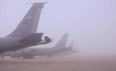 Foggy Flightline Poster by Art Of Frozen Time