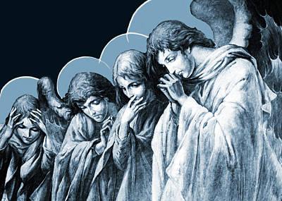 Four Angels Poster by Munir Alawi