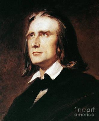 Franz Liszt (1811-1886) Poster by Granger