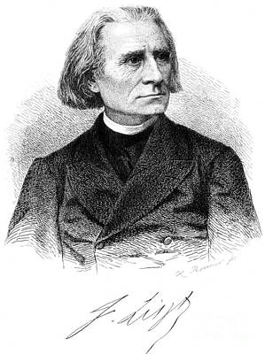 Franz Liszt, Hungarian Composer Poster by Science Source