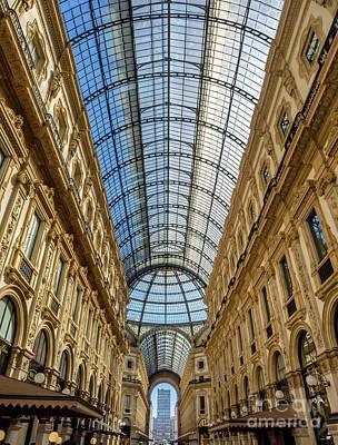 Galleria Vittorio Emanuele II Shopping Art Mall In Milan Poster