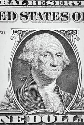 Poster featuring the photograph George Washington by Les Cunliffe