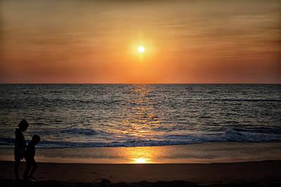 gorgeous sundown over the Indian Ocean Poster