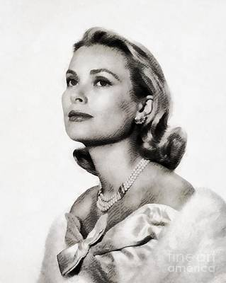 Grace Kelly, Vintage Hollywood Actress Poster by John Springfield