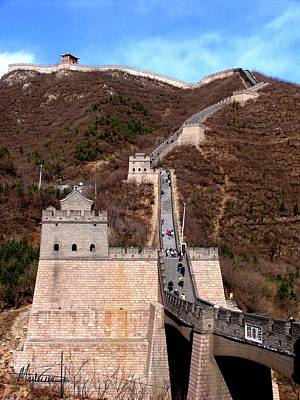 Poster featuring the photograph Great Wall  by Marti Green
