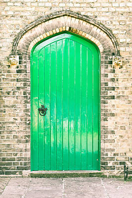 Green Door Poster by Tom Gowanlock