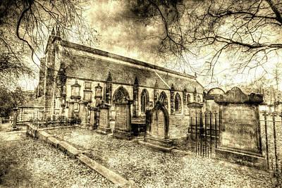 Greyfriars Kirk Church Edinburgh Vintage Poster by David Pyatt