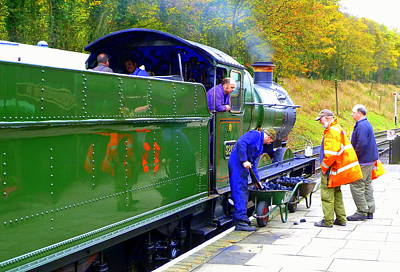 Gwr 0-6-0 No 3205 Steam Engine  Poster