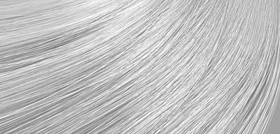 Hair Blowing Closeup Poster