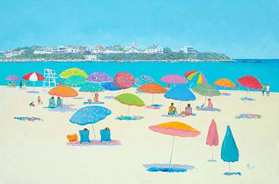 Hampton Beach And Boars Head Poster by Jan Matson
