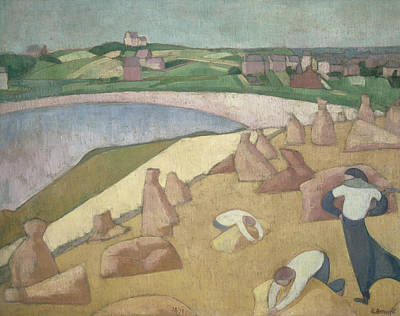 Harvest By The Sea Poster by Emile Bernard