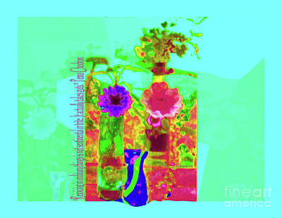 Hearts 'n Flowers-fauve Poster
