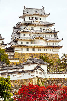 Himeji Castle - Japan Poster by Luciano Mortula