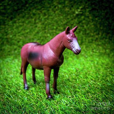 Horse Figurine Poster by Bernard Jaubert
