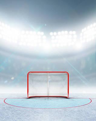 Ice Hockey Goals In Stadium Poster