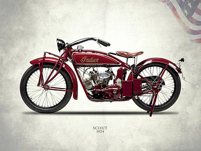 Indian Scout 1924 Poster by Mark Rogan
