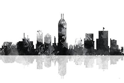 Indiana Indianapolis Skyline Poster