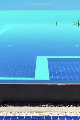 Poster featuring the photograph Infinity Pool by Atiketta Sangasaeng