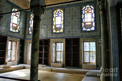 Poster featuring the photograph Inside The Harem Of The Topkapi Palace by Patricia Hofmeester
