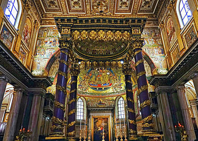 Interior View Of The Basilica Di Santa Maria Maggiore In Rome Italy Poster