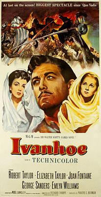 Ivanhoe, Elizabeth Taylor, Robert Poster