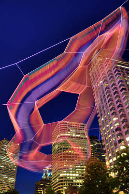 Janet Echelman Sculpture - Boston Poster by Joann Vitali