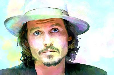 Johnny Depp Poster by Elena Kosvincheva
