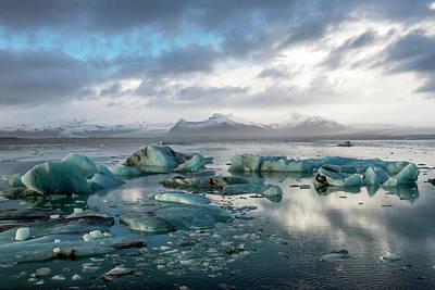 Poster featuring the photograph Jokulsarlon, The Glacier Lagoon, Iceland 3 by Dubi Roman