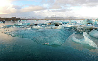 Poster featuring the photograph Jokulsarlon The Glacier Lagoon, Iceland 2 by Dubi Roman