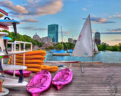 Kayaking On The Charles River - Boston Poster