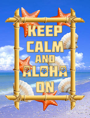 Keep Calm And Aloha On Poster by Chris MacDonald