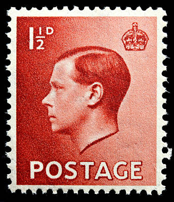 King Edward 8th Postage Stamp Poster by James Hill
