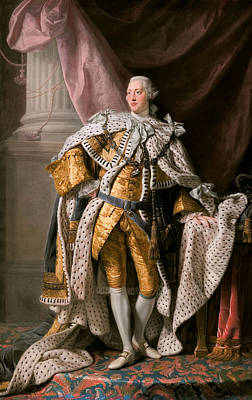 King George IIi In Coronation Robes Poster by Allan Ramsay