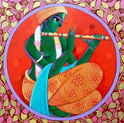 Krishna Poster by Sekhar Roy