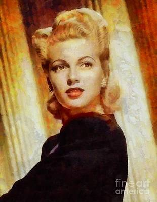Lana Turner, Vintage Hollywood Actress Poster by Sarah Kirk