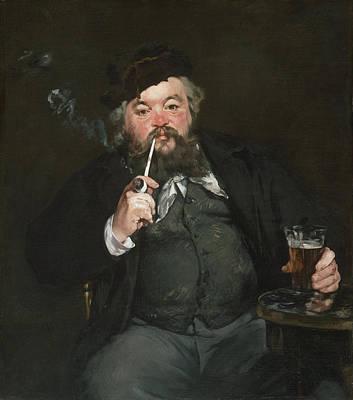 Le Bon Bock Poster by Edouard Manet